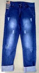 Casual Wear Faded Double Dobby Power Lycra Men ''s Denim Jeans Wholesale Only