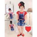 Party Wear Red Western Born Baby Dress, Age Group: 6 Month To 2 Year