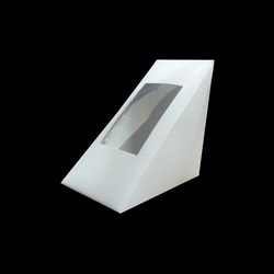 70W White Triangular Sandwich Box Window