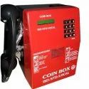 Red Wired Coin Box Payphone, For Hotel