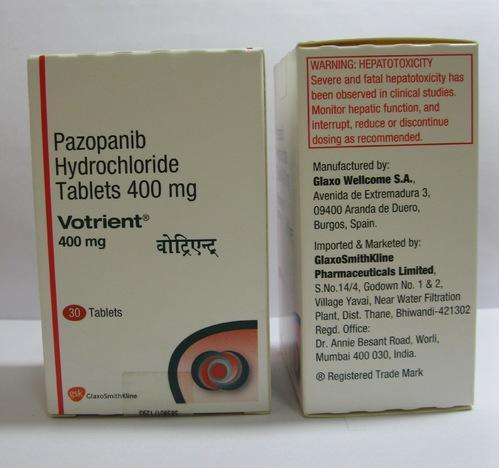 Votrient 400 mg Tab for Commercial