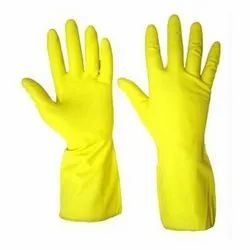 Yellow Rubber Hand Gloves