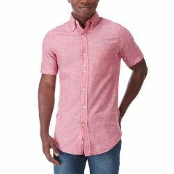 Linen Plain Mango Yellow Full Sleeve Shirt b6935e837