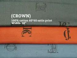 Crown (100% Cotton Satin Print) Shirting Fabric