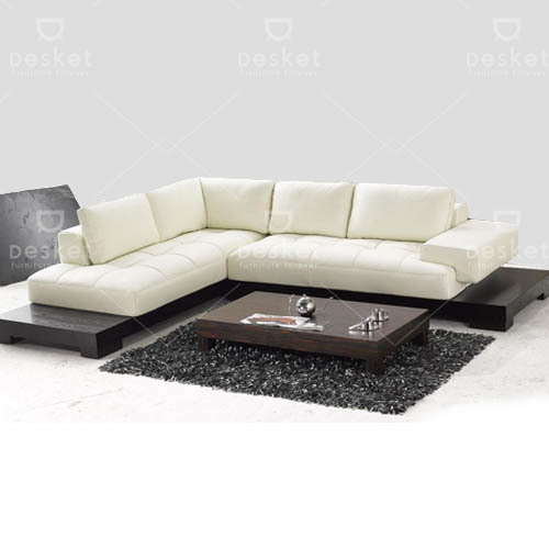 White Stanley Rexine Sofa Rs 47900
