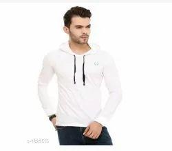 Stylish Men's Cotton Hooded Tshirt