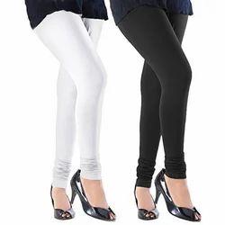 Plain Ladies Cotton Lycra Legging