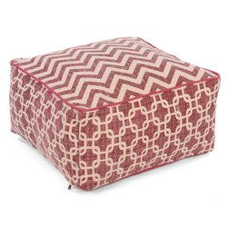 Decorative Cotton Printed Pouf