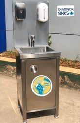 Stainless Steel Hand Wash Sink : Sensor Operated