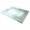 Glass Wash Basin Square (Transparent/clear)