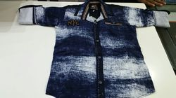 Print Denim Shirt