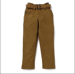 Smart Brown Pant With Belt