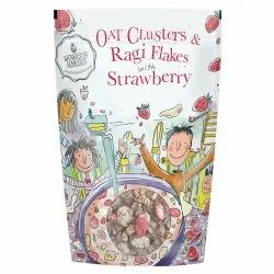 Monsoon Harvest Cereals Oat Clusters & Ragi Flakes with Strawberry