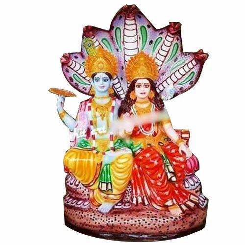Fiber Lord Lakshmi And Vishnu Statue Rs 15000 Piece Rohit Murti Kala Kendra Id 19599954788