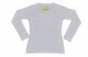 White 100 % Cotton 180 Gsm Plain Women