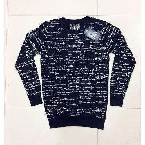 bec0b1b1f Printed Round Mens Polyester Full Sleeve T Shirt, Size: Small, Rs ...