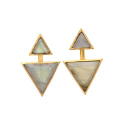 Labradorite Gold Plated Gemstone Earring
