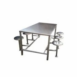 Six Seater SS Canteen Table