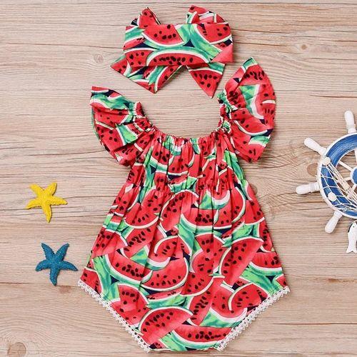 0f01168bb35 Red Watermelon Print Onesies