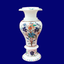 Marble Inlaid Antique Look Flower Vase