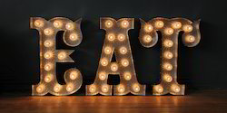 Metal 3D Letters Bulb light