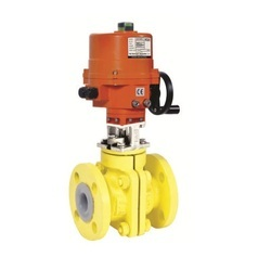 Electrical Actuator Operated PTFE (FEP-PFA) Lined Ball Valve