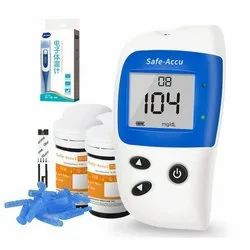1.1-33.3 mmol/L Fresh Capillary Whole Blood Sinocare Safe Accu 2 Glucometer, For Home use, Above 1000 Times