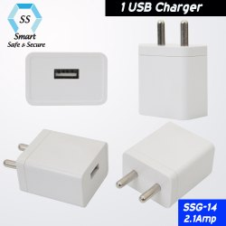 White USB Mobile Phone Charger Adapter