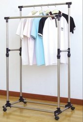 Double Rail Clothes Rack Fixture