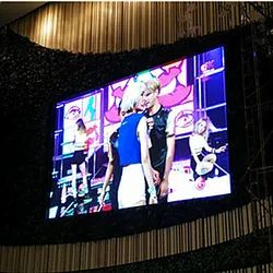 Carbon Fiber Cabinet Outdoor P4.8 LED Display Curve Rental Screen For Stage