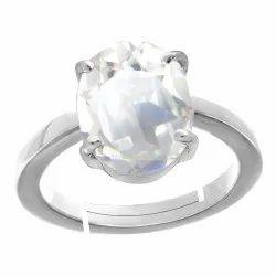 Sphatik Ring Men and Women Silver Gemstone