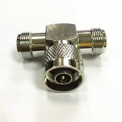 FR 2 Way Splitter (T Type Splitter), Contact Material: Brass