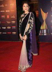 Anushka Sharma Bollywood Designer Pure Net Saree 502