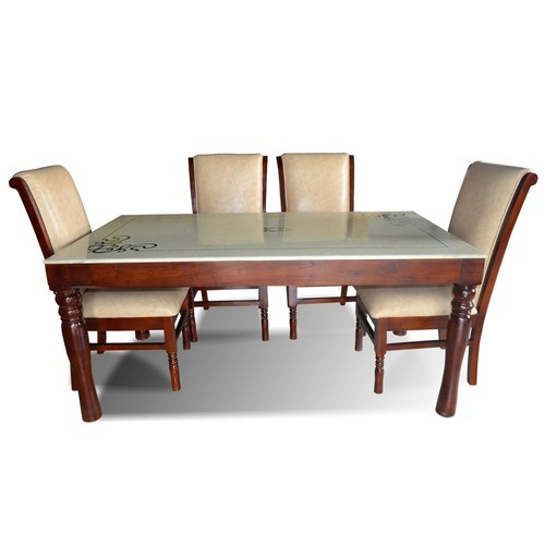 Wooden Standard Height Helena 6 Seater Dining Table Set With Marble Top Rs 56000 Set Id 20249052762