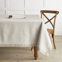 White Cotton Plain Table Cover