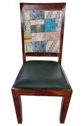 Soni Art Exports Multicolor Accent Sheesham Wood Dining Chair With Cushion 18x18x39 inch