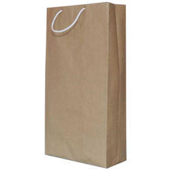 Kraft Paper Brown Long Carry Paper Bags, For Shopping