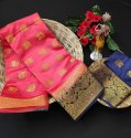 Ladies Jacquard Silk Saree With Heavy Border