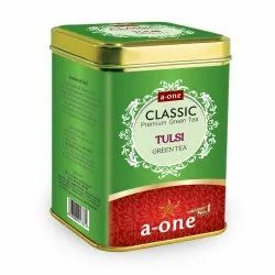 A-one TULSI GREEN TEA (100gm TIN), Packaging Type: Can (Tinned), Packaging Size: 100 Gms