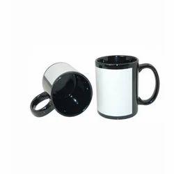 White Patch Printing Mug