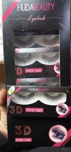 df524abf0df Huda Beauty Black Mink Hair Eyelashes, Rs 600 /dozen, Shri Laxmi ...