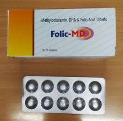 Methylcobalamin DHA and Folic Acid Tablets (Folic-MD)