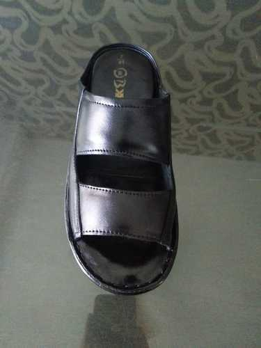 Mens Black Leather Corporate Wear Formal Slipper