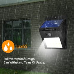Solar Sensor LED Wall Light
