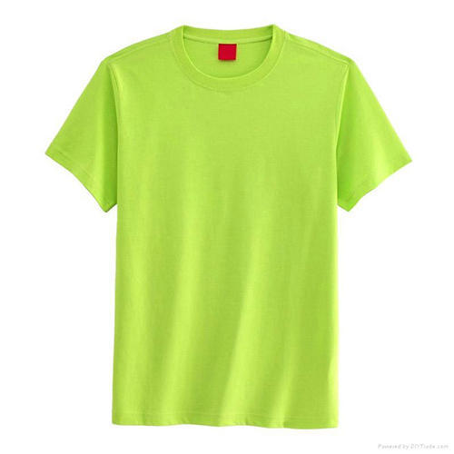 light green t shirt, gents round neck t shirt, पुरुषों की