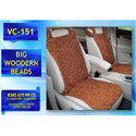 Wooden Beads Brown Natural Wood Bead Seat Cover, Packaging Type: Box
