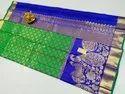 Fancy Border Kanchi Silk Sarees With Blouse Piece