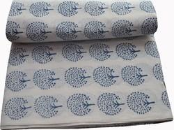 Hand  Block Printed 100 % Cotton Fabric Jaipuri Print