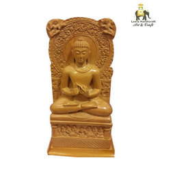 Wooden Sarnath Buddha Statue