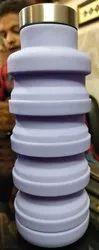 Blue,Purple,Grey,Orange rubber Silicon Bottle, Capacity: 600 Ml, Features: Leak Proof